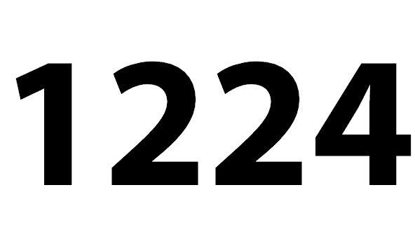 Welche Bedeutung hat die Zahl 1224 noch?