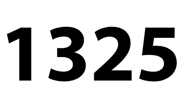 Welche Bedeutung hat die Zahl 1325 noch?