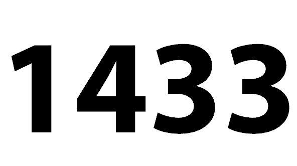 Welche Bedeutung hat die Zahl 1433 noch?