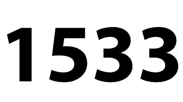 Welche Bedeutung hat die Zahl 1533 noch?