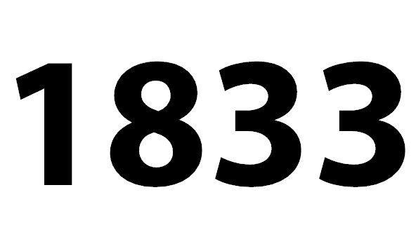 Welche Bedeutung hat die Zahl 1833 noch?