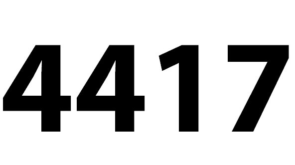 Welche Bedeutung hat die Zahl 4417 noch?