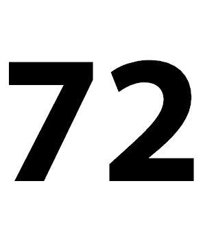 Zahl 72