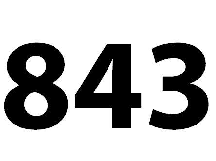 Welche Bedeutung hat die Zahl 843 noch?