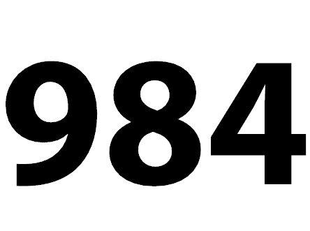 Welche Bedeutung hat die Zahl 984 noch?